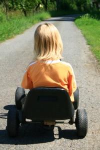 Hvis flere havde samme køretøjspræferencer som dette barn, så ville vi måske udlede mindre C02 i Danmark. (Foto: Milan Jurek)