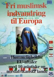 Højrenationalister frygter, at EU bliver udvidet til en Middelhavsunion. Her er forsiden fra en folder fra Dansk Kultur.